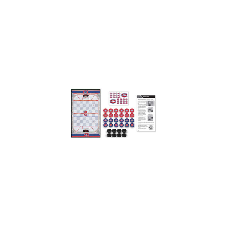 Montreal Canadiens Checkers Board Game