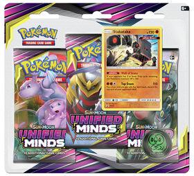 "Pokemon Sun & Moon 11 ""Unified Minds"" 3-Pack Blister - Stakataka"