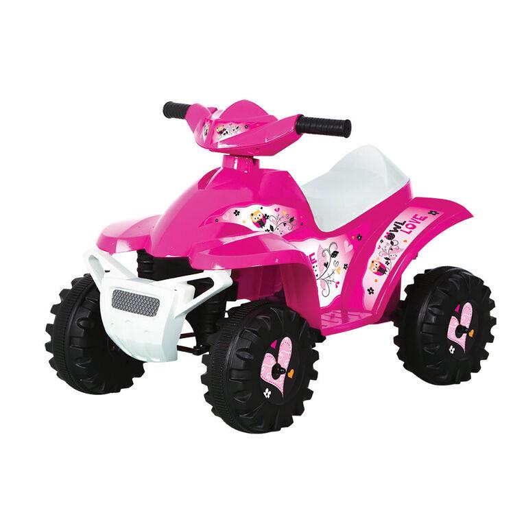 Rollplay 6V Owl Mini Quad, Pink