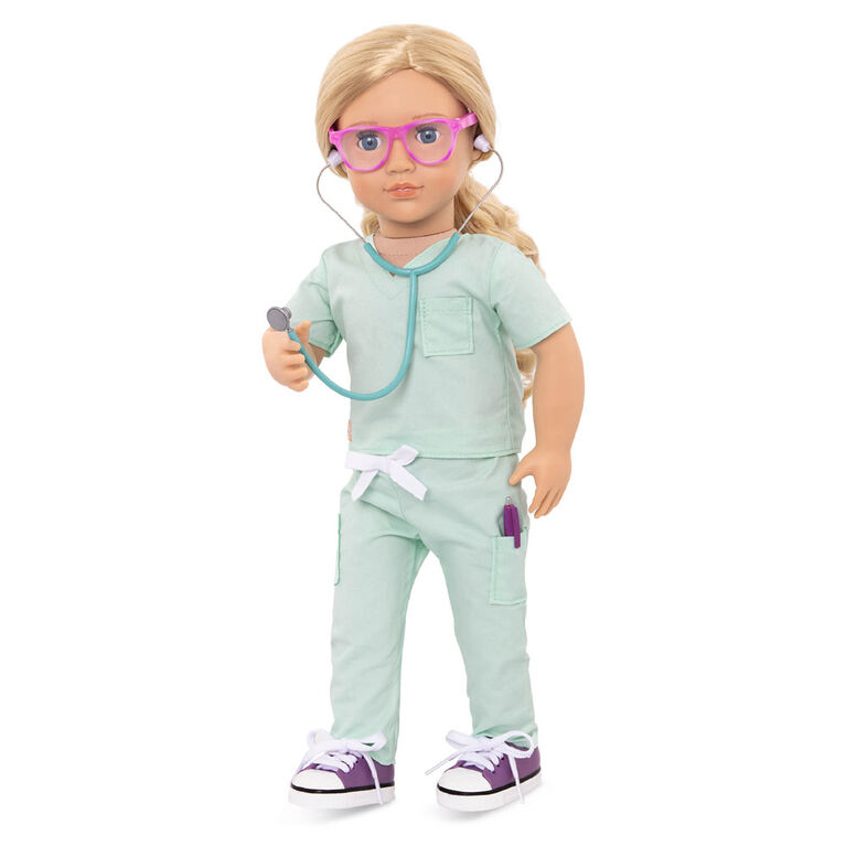 Our Generation - Deluxe Doctor In Scrubs Outfit