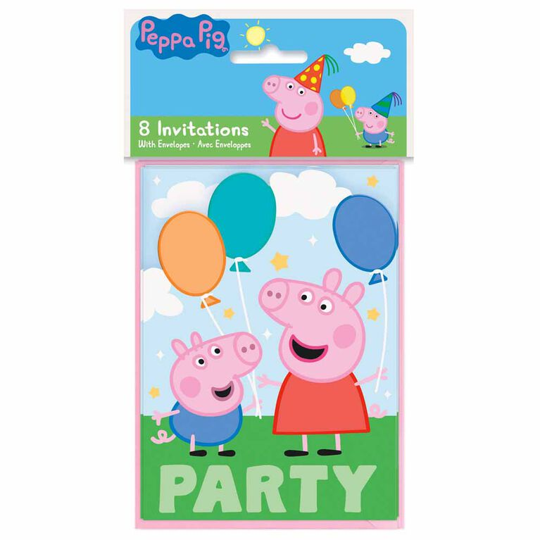 8 Invitations - Peppa Pig