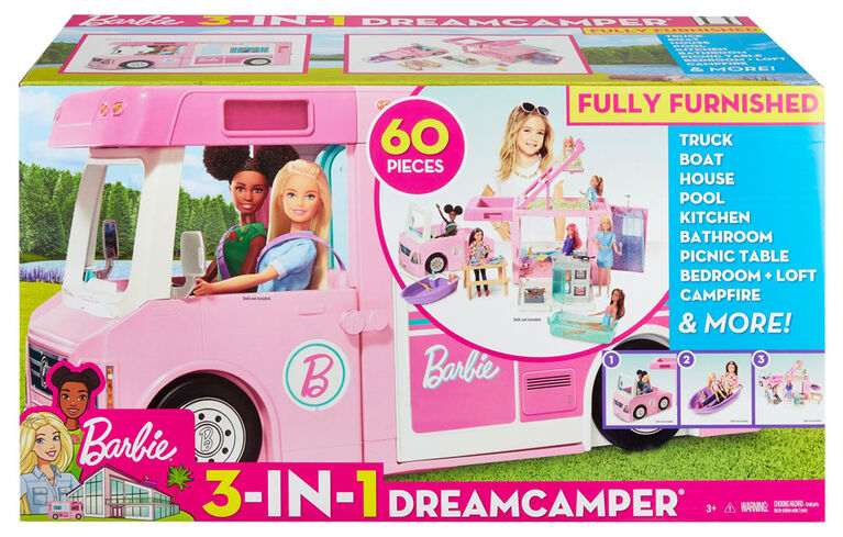 Barbie 3-in-1 Dreamcamper Vehicle and Accessories - R Exclusive