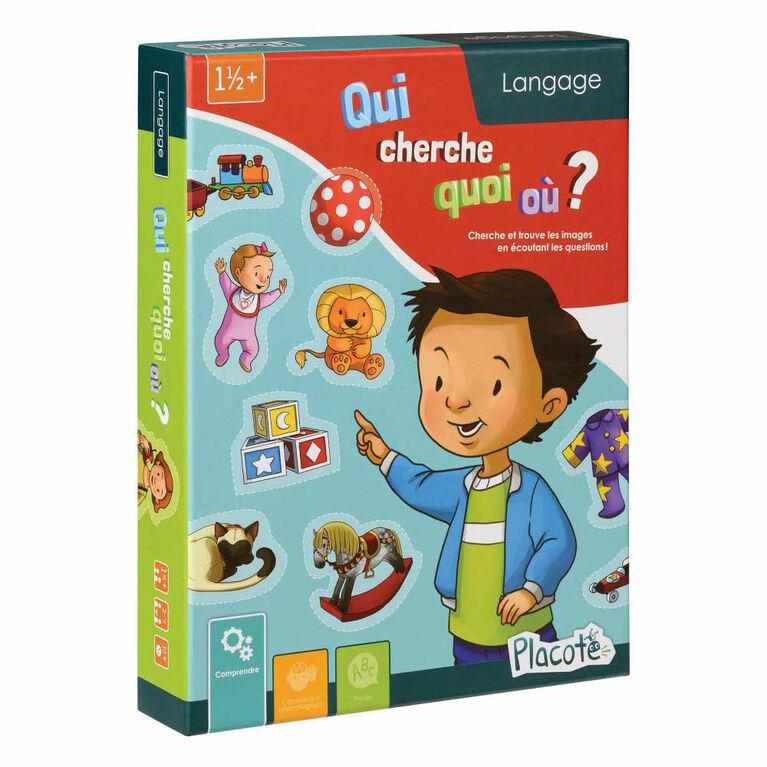 Qui Cherche Quoi Où? - Placote - jeu éducatif - Édition française