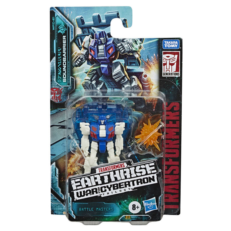Transformers Generations War for Cybertron : Earthrise, figurine Battle Masters WFC-E1 Soundbarrier