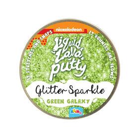 Nickelodeon Liquid Lava Putty Glitter Green Galaxy