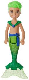 Barbie Dreamtopia Chelsea Merboy Doll, 6.5-inch, Green