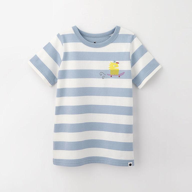 2-3 ans t-shirt imprimé à manches courtes - bleu pâle