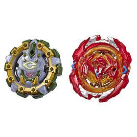Beyblade Burst Duo Turbo Slingshock Phoenix P4 et Cyclops C4
