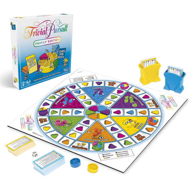 Hasbro Gaming - Jeu Trivial Pursuit édition familiale