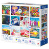 Paquet de 12 puzzles familiaux, vacances colorées