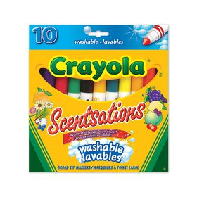 Scentsations Washable Broad Tip Markers - 10ct