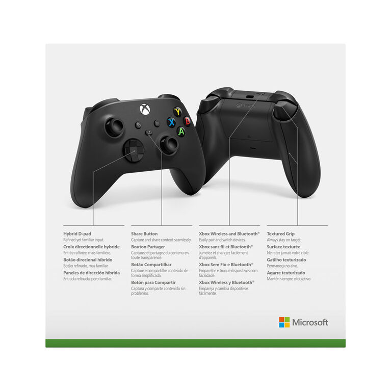 XBSX Wireless Controller Carbon Black