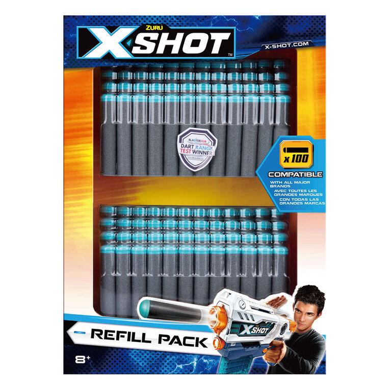 Ensemble de fléchettes en mousse (100fléchettes) X-Shot Excel