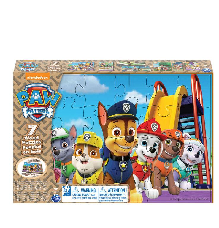PAW Patrol - Coffret de 7 puzzles en bois