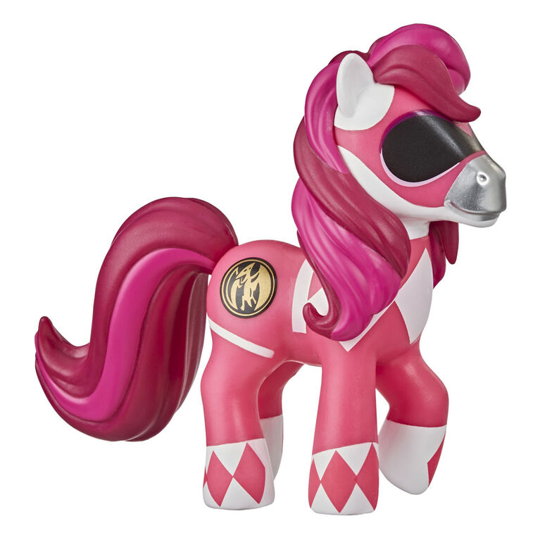 My Little Pony x Power Rangers Crossover Collection Morphin Pink Pony - Power Rangers-Inspired Collectible Pony Figure - R Exclusive