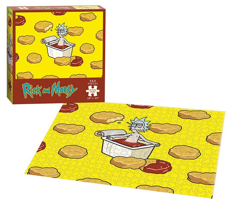 "Rick and Morty ""Szechuan Hot Tub"" 550 Piece Puzzle"