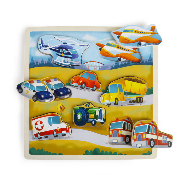 Imaginarium Discovery - Wooden Chunky Puzzle Assortment - Vehicle