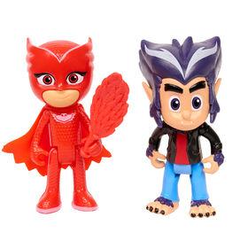 Ensemble de 2 Figurines des Pyjamasques du Héros contre le Méchant - Owlette et Howler
