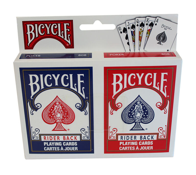 Bicycle 2 cartes a jouer - les motifs peuvent varier