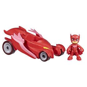 Les Pyjamasques Bibou, véhicule de luxe, Astro-Hibou qui bat des ailes avec figurine Bibou
