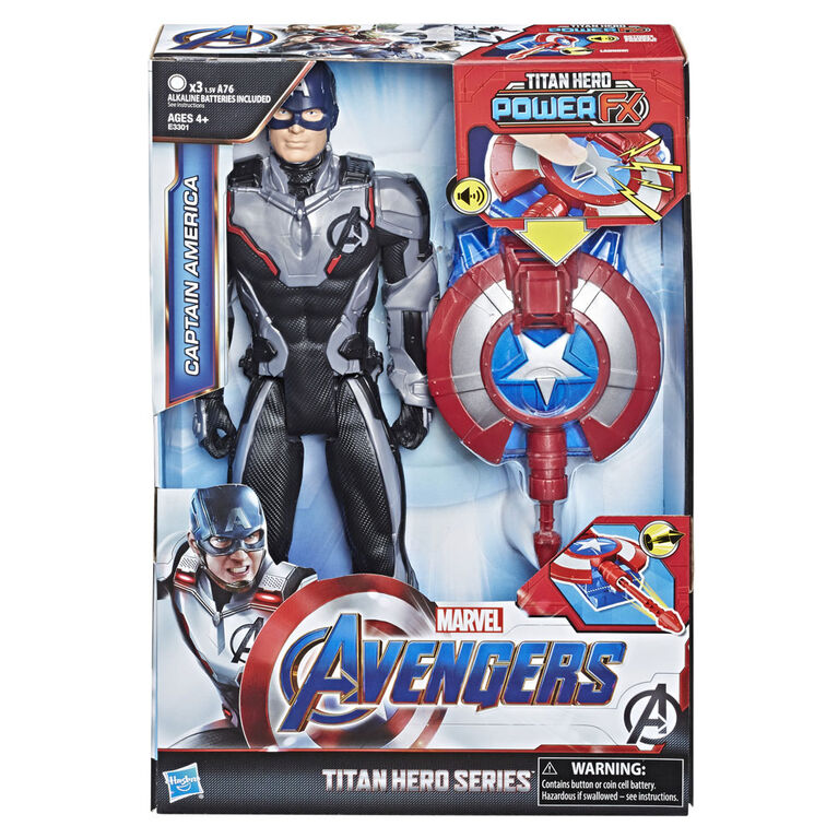 Marvel Avengers : Phase finale Titan Hero Power FX - Figurine Captain America.