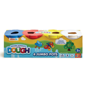Nick Jr Ready Steady Dough 4 Jumbo Pots Primary Colours