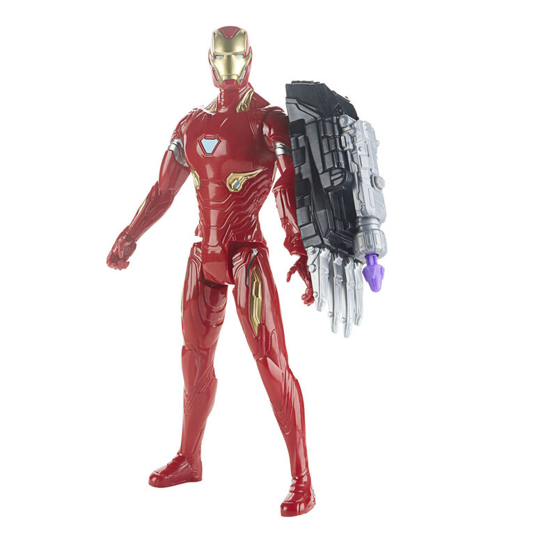 Marvel Avengers: Endgame Titan Hero Series Iron Man Action Figure with Titan Hero Power FX Port