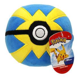 "Pokémon 4"" Pokeball Plush - Quick Ball"