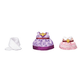 Calico Critters Town Series Dress Up Set (Purple & Pink)