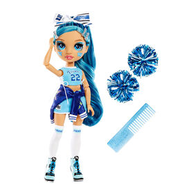 Rainbow High Cheer Skyler Bradshaw - Blue Fashion Doll with Pom Poms