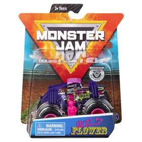 Monster Jam, Official Wild Flower Monster Truck, Die-Cast Vehicle, Danger Divas Series, 1:64 Scale