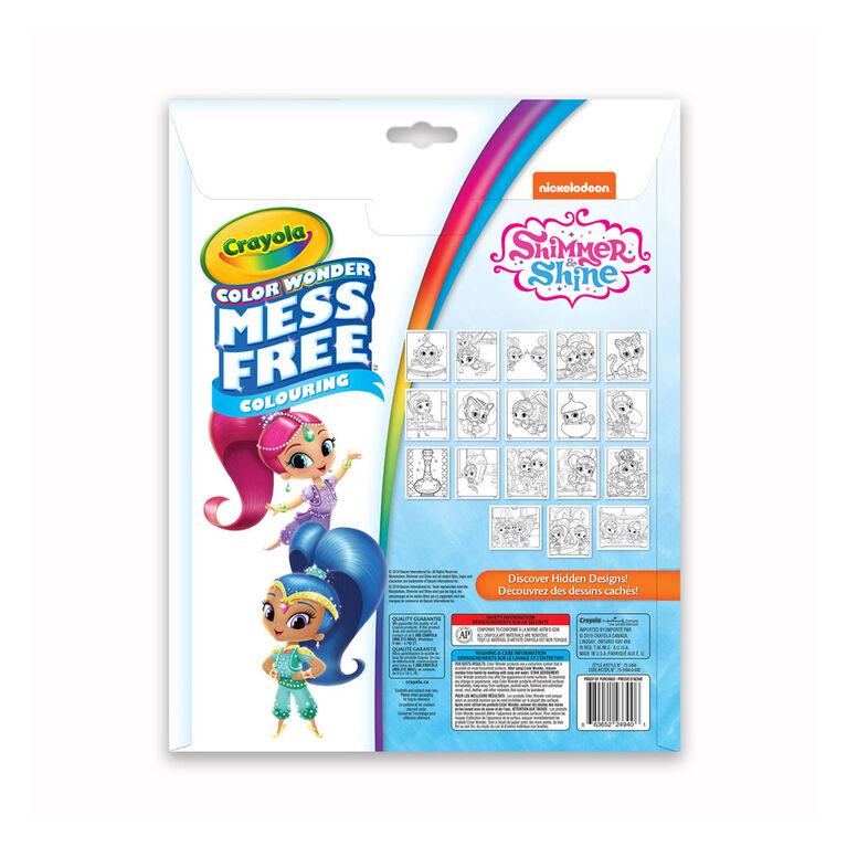 Crayola Mess-Free Color Wonder Pages & Mini Markers, Shimmer & Shine
