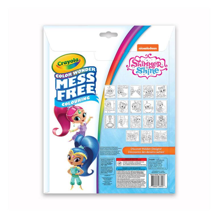 Pages et mini marqueurs Crayola Color Wonder sans dégâts Shimmer & Shine
