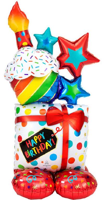 "Ballon Métallique ""Airloonz"" ""Birthday"""