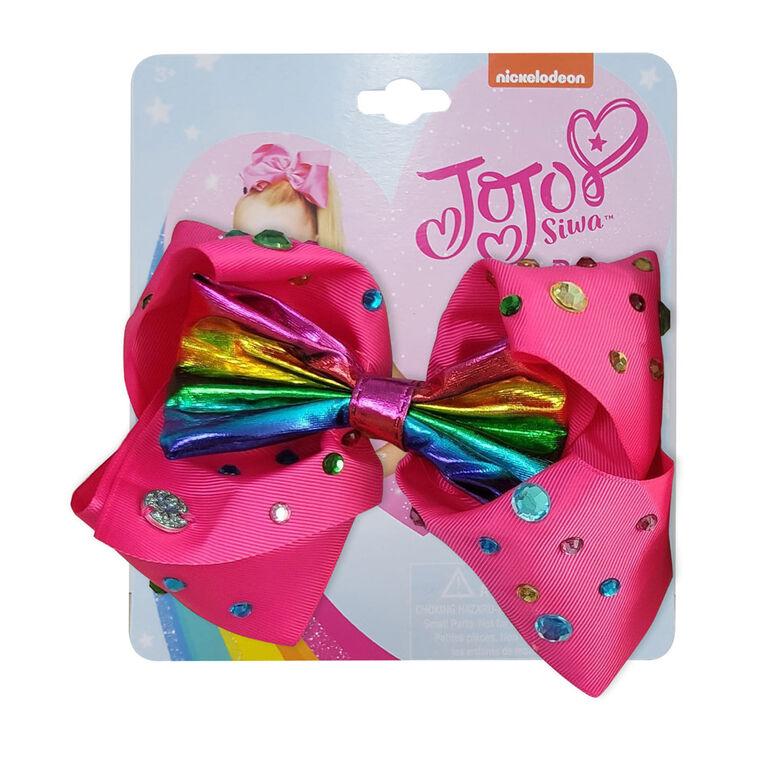 Jojo Siwa Bow Pink with Rhinestone