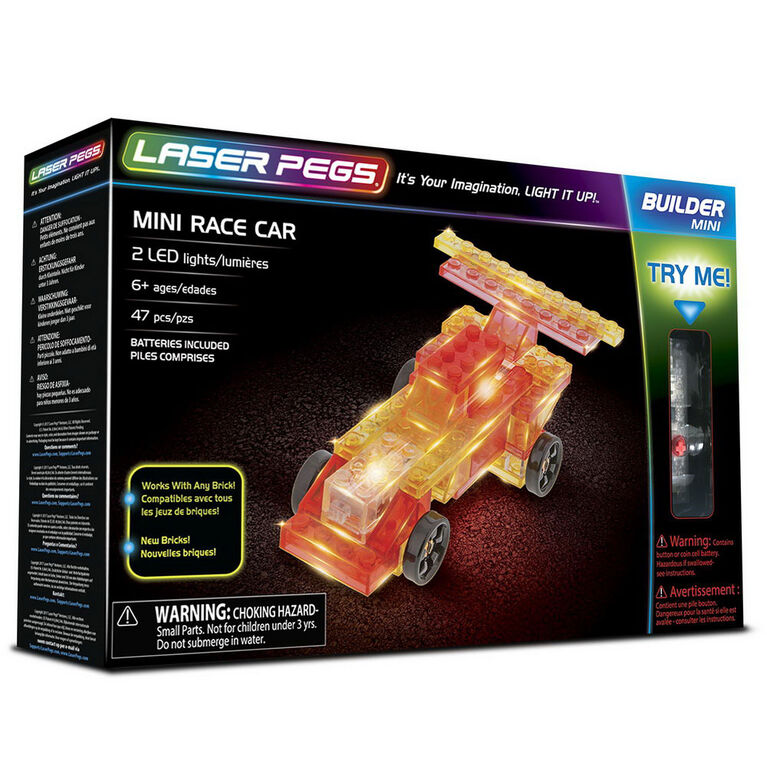 Laser Pegs Mini Race  Building Set