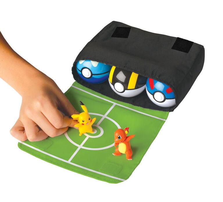 Ensemble de bandoulière Pokémon - Évoli no 1 (Eevee), Ultra Ball, Honor Ball (Premier Ball)