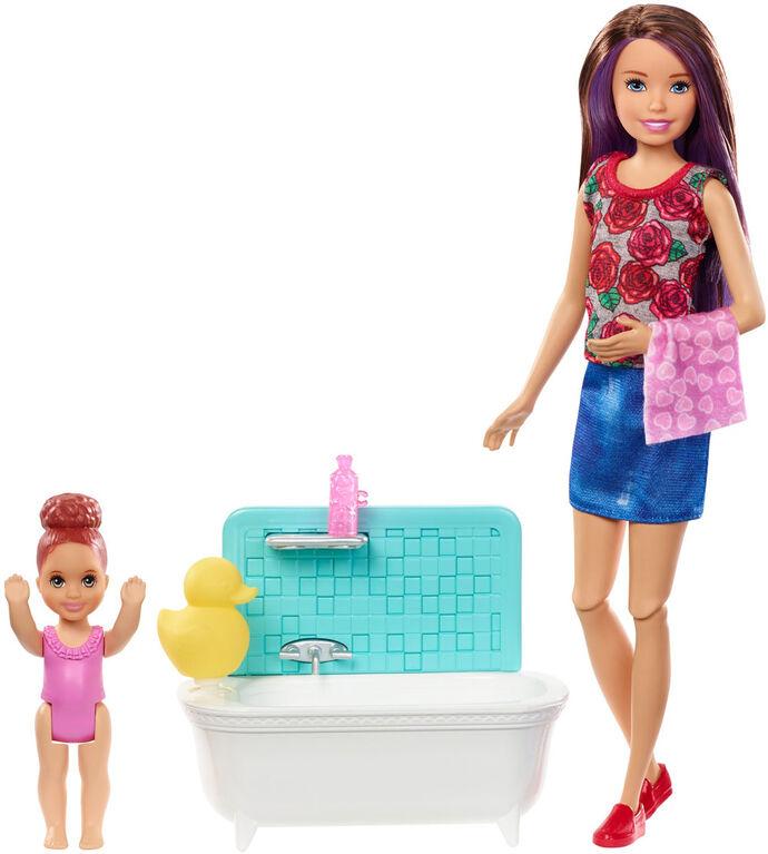 Barbie - Babysitters Inc. - Skipper - Poupée et coffret de jeu - Heure du bain.