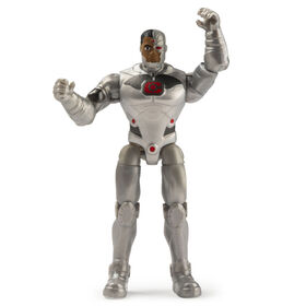 DC Comics, 4-Inch CYBORG Action Figure with 3 Mystery Accessories, Adventure 1
