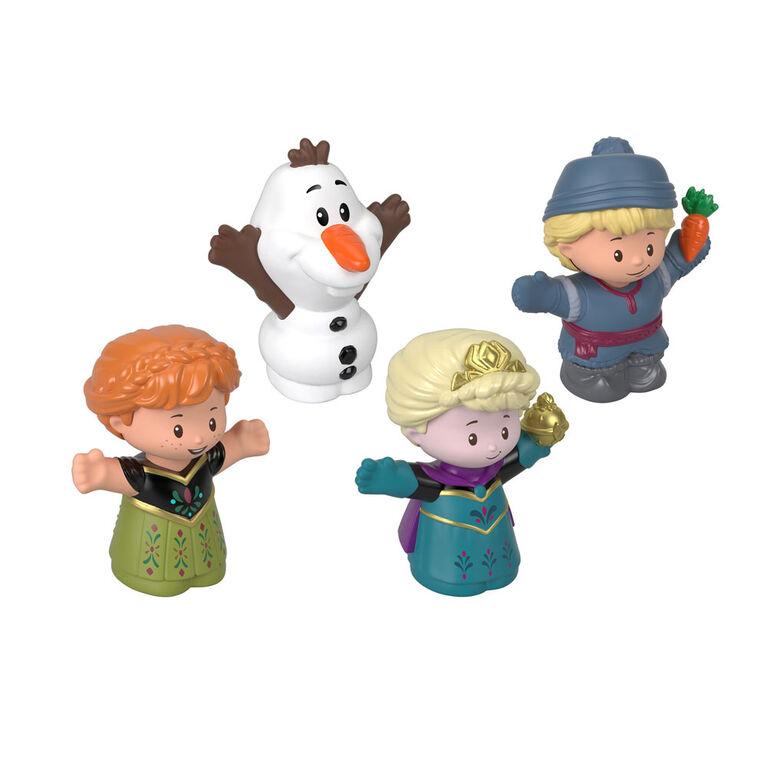 Elsa et ses amis par Little People La Reine des Neiges de Disney de Fisher-Price, coffret de 4 figurines