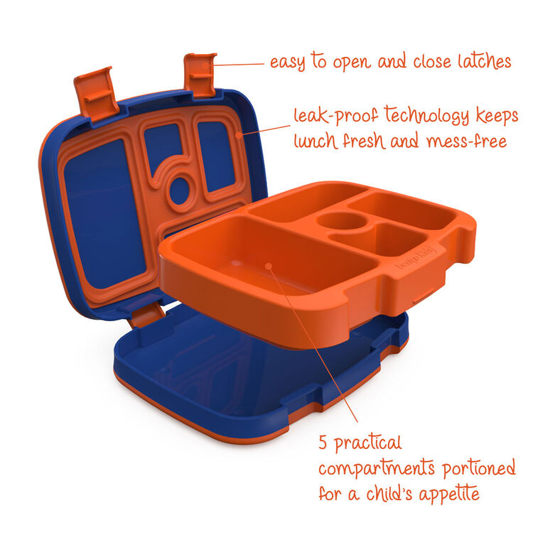 Bentgo Kids Prints Leak-Proof, 5-Compartment Bento-Style Kids Lunch Box - 7 - BPA-Free and Food-Safe Materials - 2020 Collection - Sports - Édition anglaise