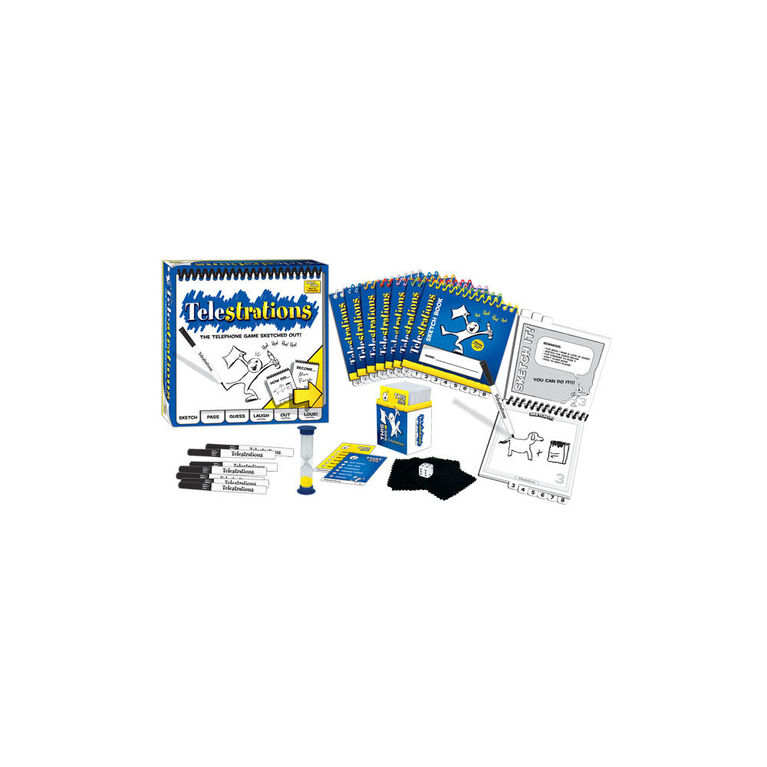 Telestrations 8 Player: The Original - English Edition