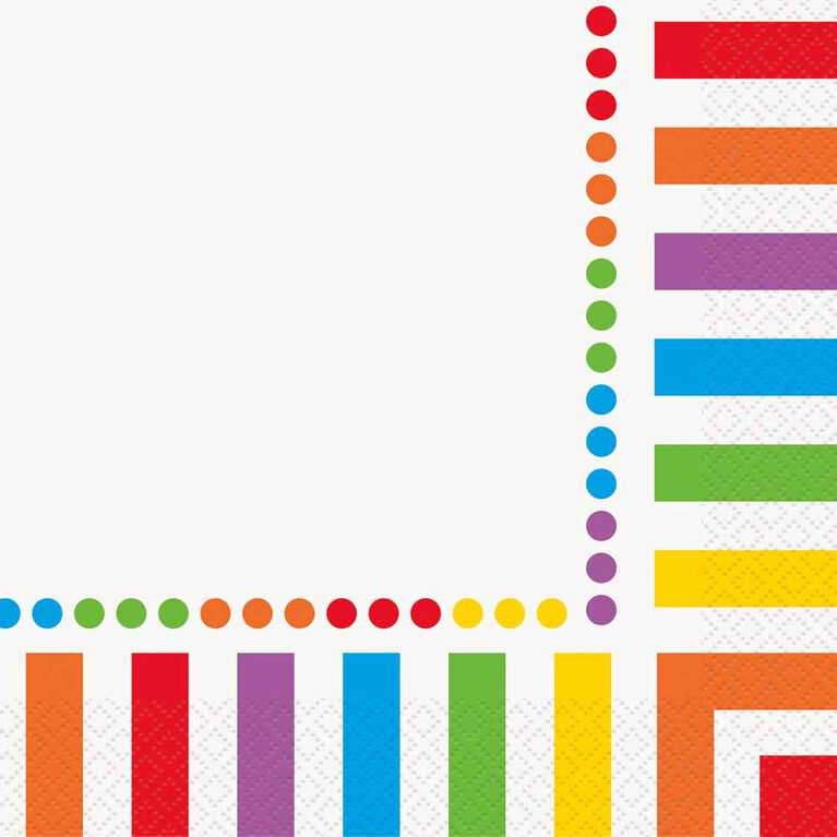 Rainbow Birthday Serviettes de Table, 16un