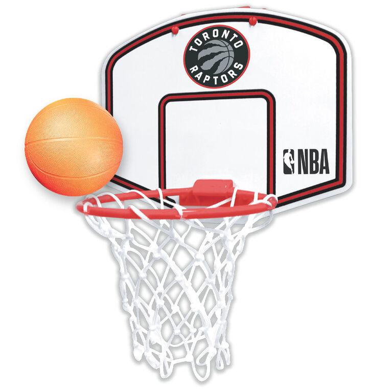 NBA - Over-The-Door Toy Basketball Set - Raptors Edition
