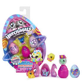 Hatchimals CollEGGtibles, Coffret Cosmic Candy de 4 Hatchimals (les styles peuvent varier)