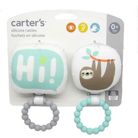 Carter's Silicone Rattle and Teether Set Sloth