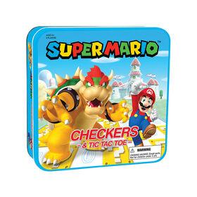Jeu De Dames & TIC TAC TOE: Super Mario vs. Bowser Jeu De Plateau - Édition anglaise