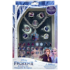 Frozen II Jewelry Set- Bracelet, Rings And Stick-On Earrings