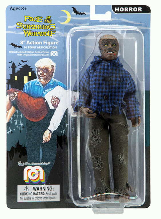 """The Face of the Screaming Werewolf 8"""" figure"""