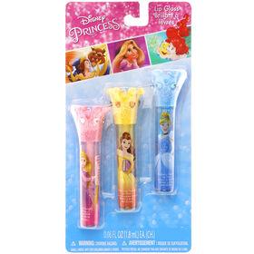 Disney Princess 3 Pack Crown Lip Wands